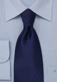 apphire Blue Striped Kids Necktie