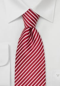 XL Mens Tie in Cherry and White