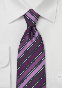 Designer Silk Tie in Purple, Lavender, Gray