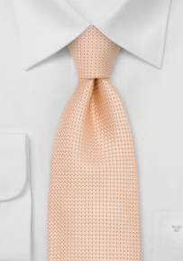 Mens Summer Necktie in Peach Apricot