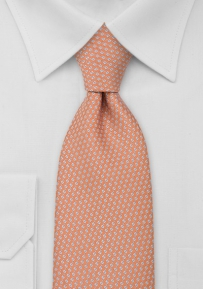 Patterned Tie in Orange, Light Blue, Yellow