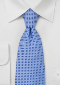 Foulard Design Silk Tie in Light Blue