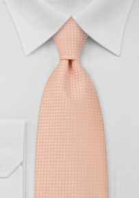Solid Light Orange Tie for Boys