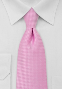 Solid Mens Necktie in Light Pink XL Length