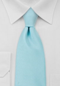Checkered Necktie in Cyan Blue