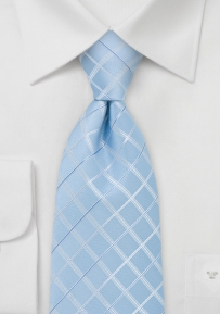 Check Pattern Necktie in Light Blue