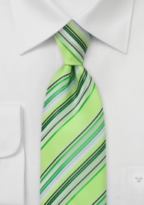 Chartreuse Green Mens Tie