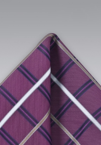 Mens Check Pattern Pocket Square