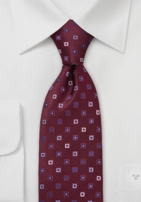 Designer Tie in Maroon and Blue