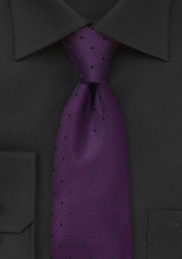Designer Tie in Eggplant Purple