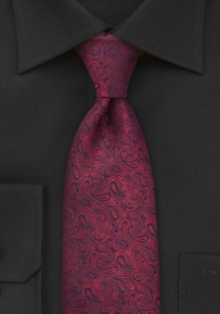 Paisley Tie in Scarlet Red