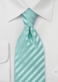 Subtle Striped Kids Tie in Mint Green
