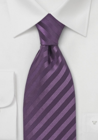 Eggplant Purple Silk Tie in XL