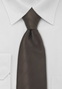 Solid Color Tie in Dark Brown