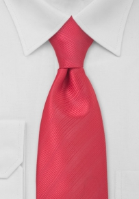 Solid XL Length Tie in Watermelon Red
