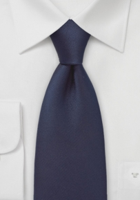 Midnight Blue Ribbed Silk Tie