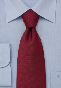 Textured Tie in Bright Burgundy