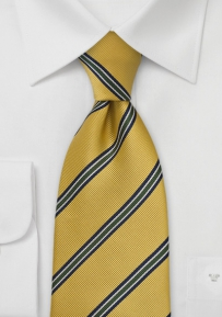 Yellow Collegiate Striped Tie for Boys