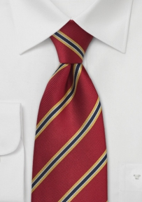 Regimental Kids Tie in Red, Yellow, Navy