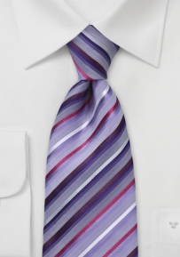 Wisteria Purple Striped Tie