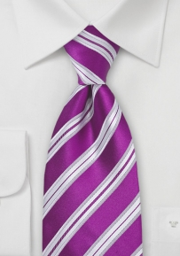 Boys Size Tie in Sangria Purple