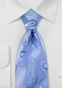 Retro Paisley Tie in Sky Blue