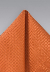 Orange Handkerchief with Snake Skin Pattern