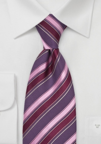 Modern Silk Tie in Purple & Pink