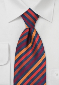 Tangerine Orange Striped Tie