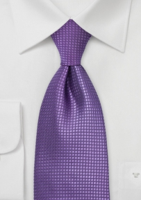 Bright Lavender Purple Extra Long Mens Tie