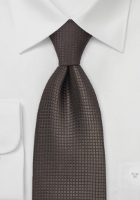 Dark Brown Silk Necktie