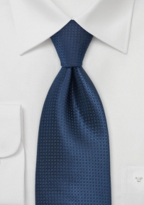 Kids Patterned Tie in Blue and Black