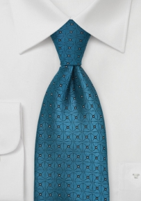 Designer Silk Tie in Teal Blue