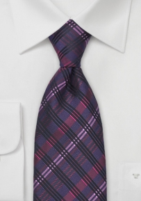 Dark Purple and Pink Tie