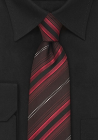 Mens Designer Tie in Red and Maroon