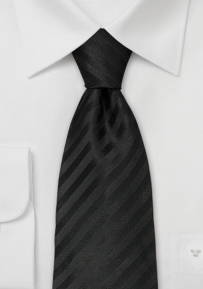 Classic Black Striped Tie