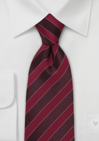 Striped Red Designer Tie
