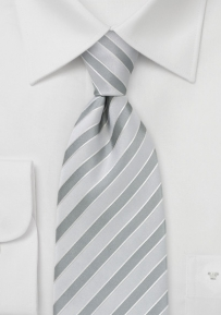 Three Toned Silver Striped Tie