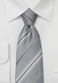 Silver Striped Designer Tie