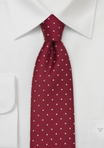 Red & White Polka Dot Designer Tie
