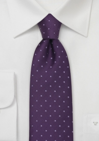 Purple Polka Dot Desiger Tie