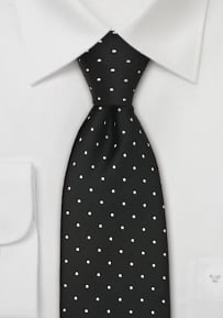 Black Polka Dot Tie in XL