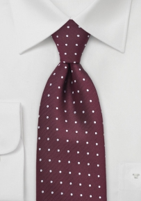 Polka Dot Tie in Bordeaux