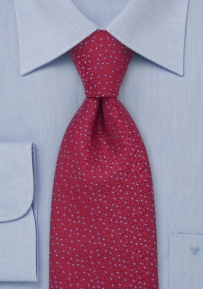 Luxurious Cherry Red Silk Tie