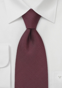 Dotted Tie in Wine Red