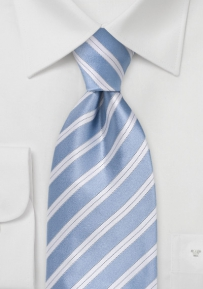 Striped Tie in Soft Blue