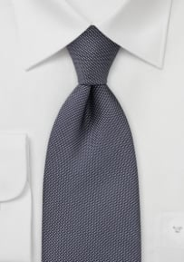 Graphite and White Dotted Tie