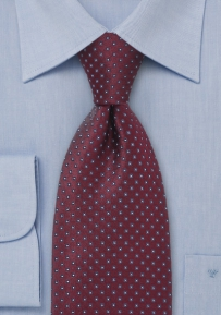 Diamond Patterned Tie in Burgundy
