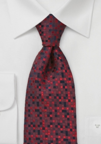 Black and Red Patchwork Tie