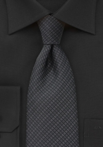 Modern Black and Grey Tie